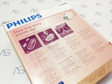 The Packaging Philips Satinelle Hp6400