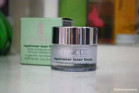 Clinique Repairwear Laser Focus Wrinkle Correcting Eye Cream by Athena Saxena